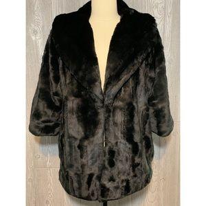Burning Torch x Barneys Black Faux Fur Jacket M